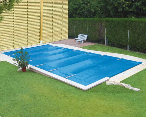 Fs tema couverture barres opaque t m piscine Manivelle bache piscine