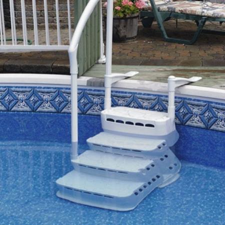 Escalier piscine hors sol