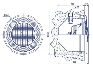 Projecteur pour piscine b ton et liner piscine center net for Pieces a sceller piscine beton